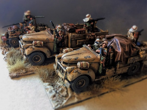 Resultado final de los camiones Chevrolet del Long Range Desert Group