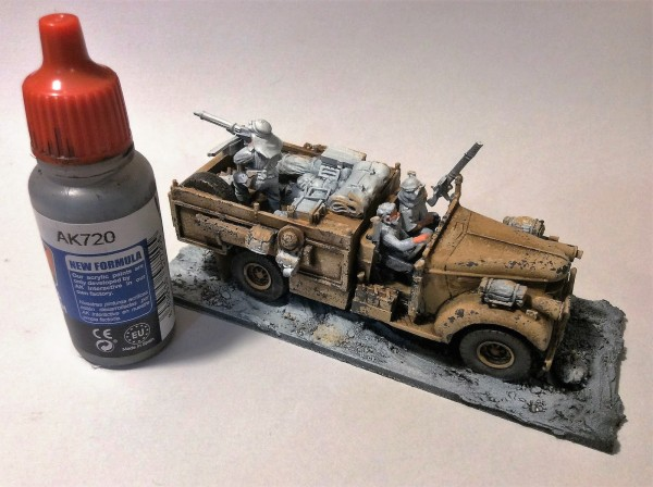 Bolt Action Pintando LRDG Neumáticos