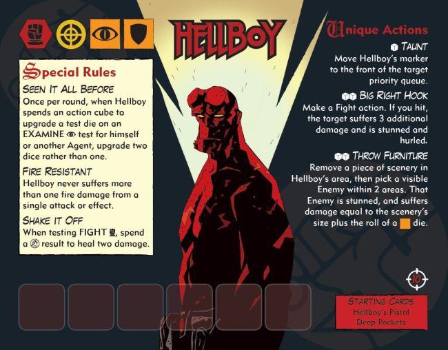 Hellboy: The board Game Carta de Agente