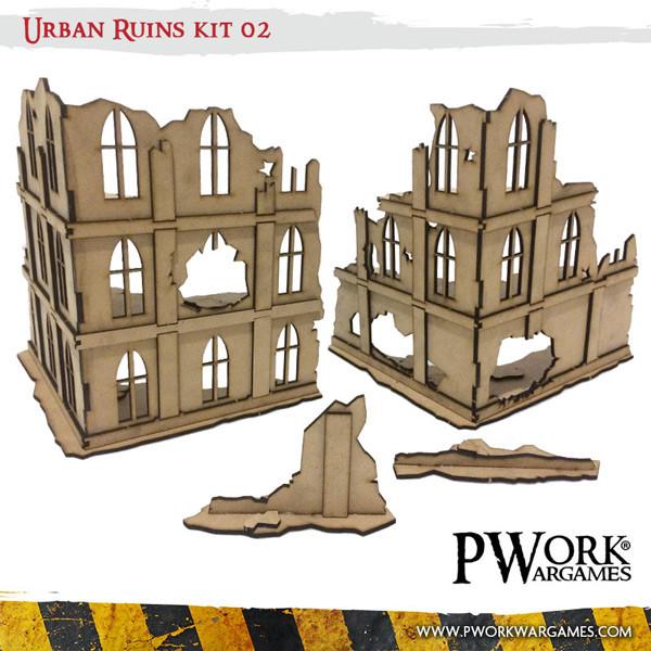 Urban Ruins 02 - MDF Terrain Scenery
