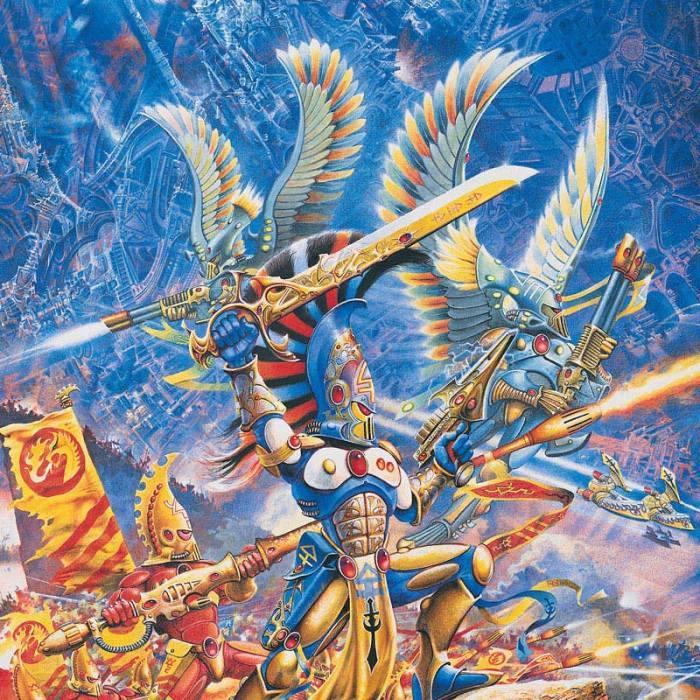 Eldar Aspect Warriors battle to defend their Craftworld.