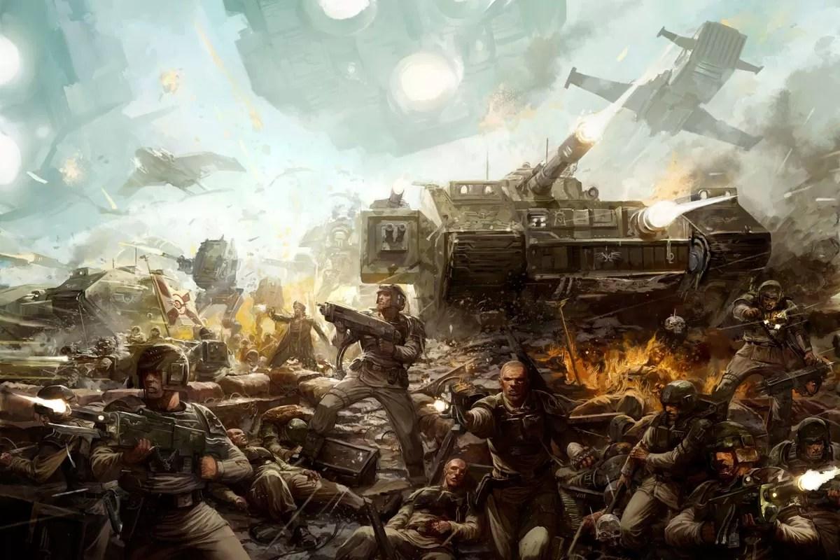 Kings Fall Wallpaper Cadian Shock Troops Warhammer Art