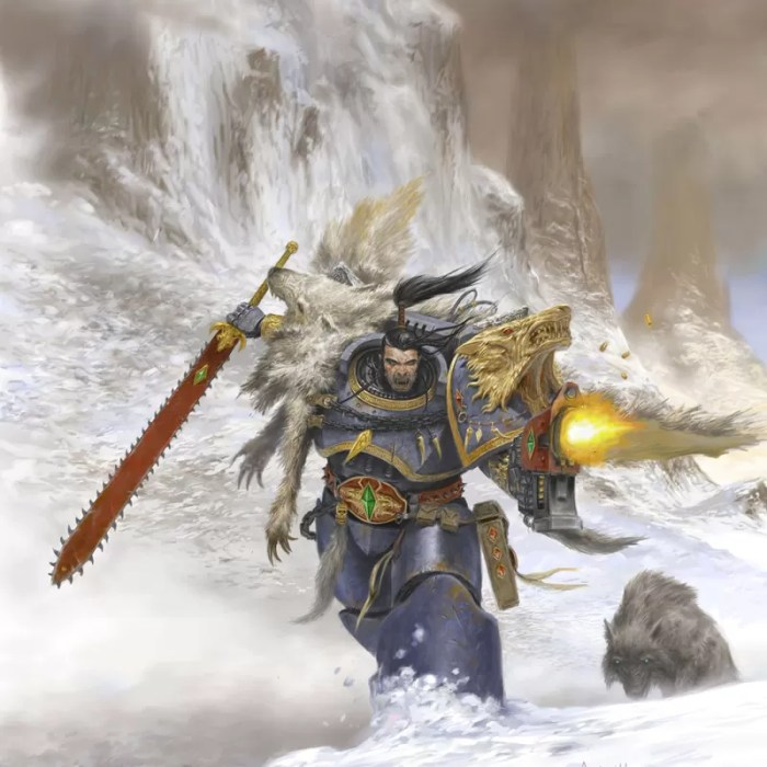 Ragnar Blackmane is one of the most famous Lords of the Space Wolves.