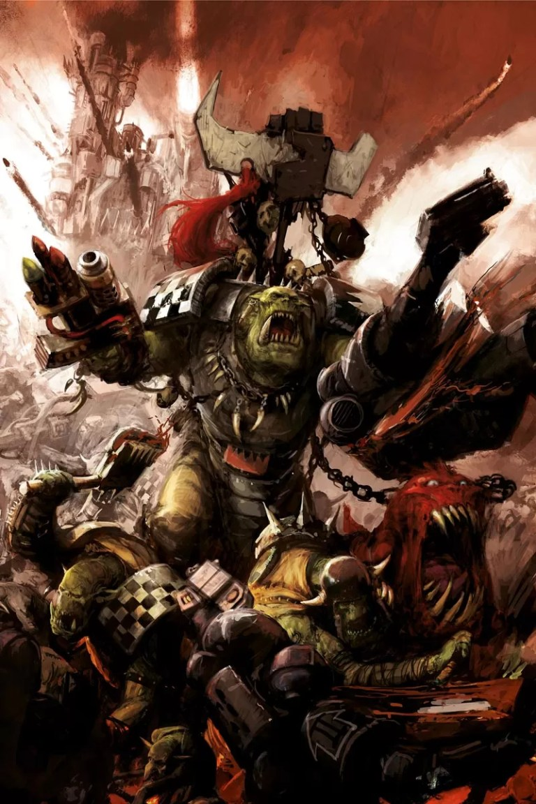 Grukk Facebiter, warboss of the Red Waaagh!