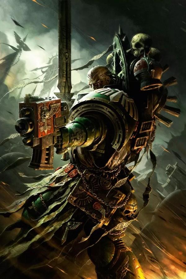 Dark Angels Veteran Warhammer Art