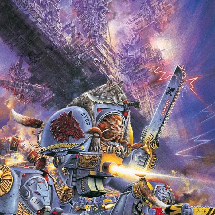 This image adorned the cover of the second edition Space Wolf Codex.