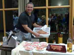 Conference attendees enjoyed home cured prosciutto and a scotch tasting at Friday evening's reception