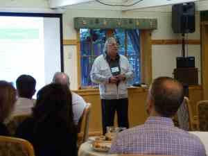 Dr Ettlinger speaking at lunch session on 9-17-16