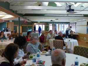 WRA meeting attendees enjoy lunch while continuing the learning