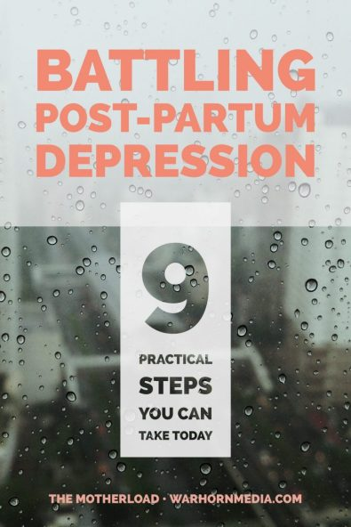 Batting post-partum depression... These are the first steps you should take to address the struggle.