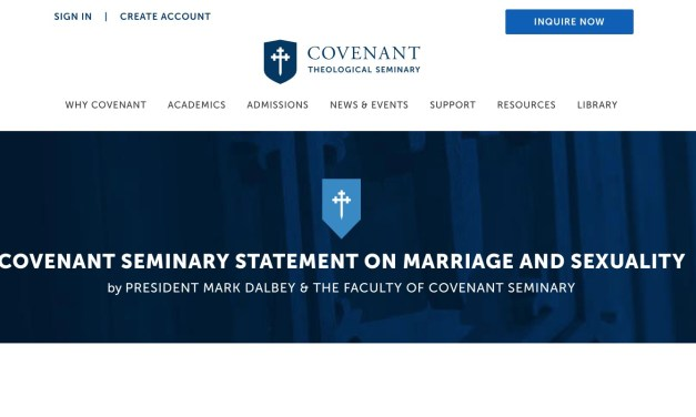Covenant Theological Seminary's failure…