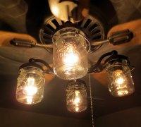 4 light ceiling fan light kit