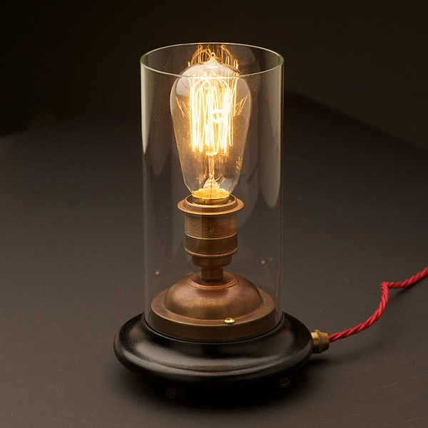 Vintage Glass Globe Table Lamps