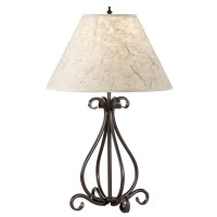 Black wrought iron table lamps
