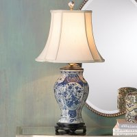 Blue and white porcelain lamps for a fantastic home