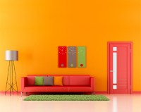 Make Home Decoration Fun With light orange wall paint ...