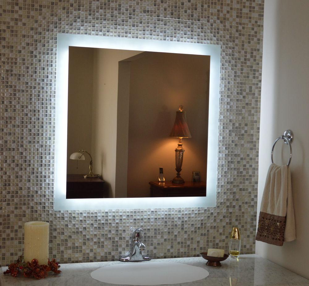 Lighted Vanity Wall Mirror
