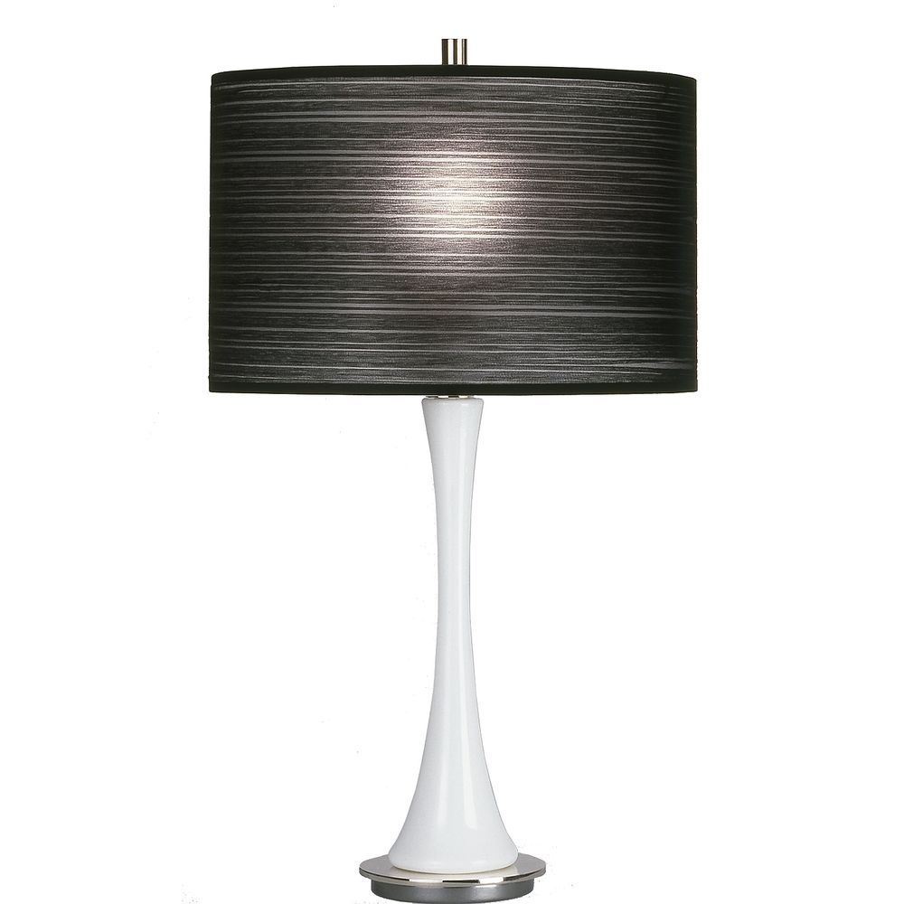 Modern white table lamp