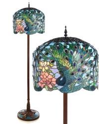 Glass art in your home: Peacock floor lamp | Warisan Lighting