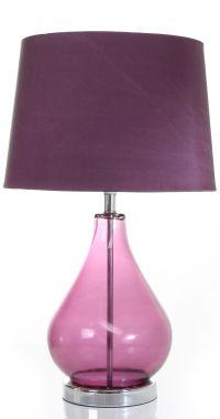 Purple glass table lamp