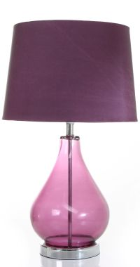 Purple glass table lamp - A Touch of Purple Sophistication ...