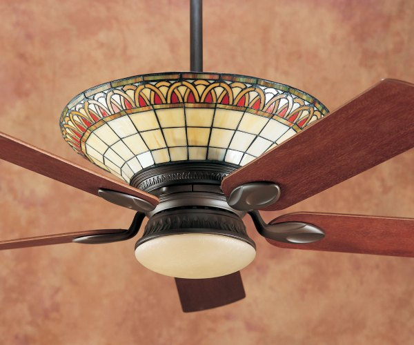 Tiffany Style Ceiling Fans with Lights