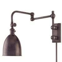 Swing arm wall lamp plug in
