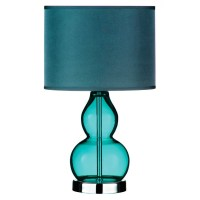Teal glass lamp - creation of harmony within the room ...