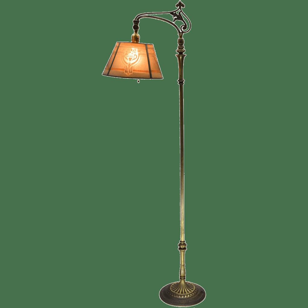Brass Floor Reading Lamp. Vintage Floor Lamp Desk Study