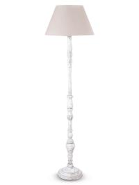 White wooden floor lamp - feeling of symmetry and ...