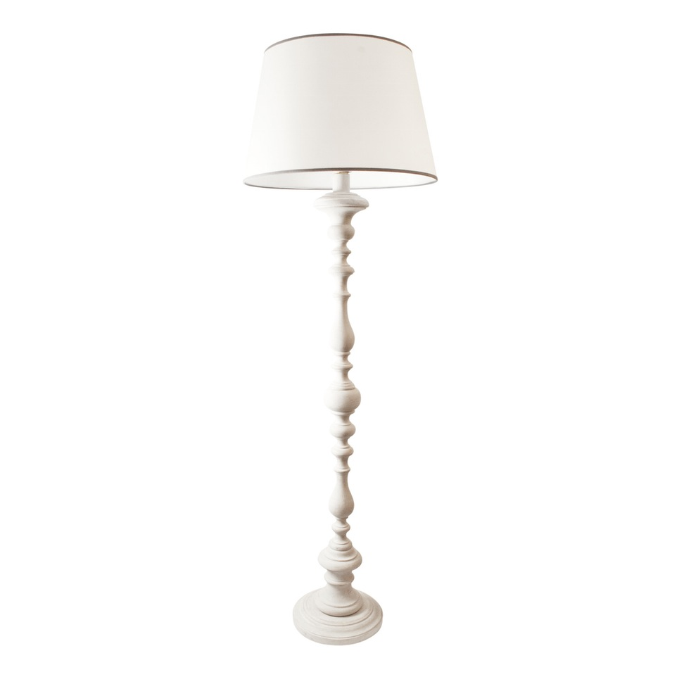 White wooden floor lamp  feeling of symmetry and