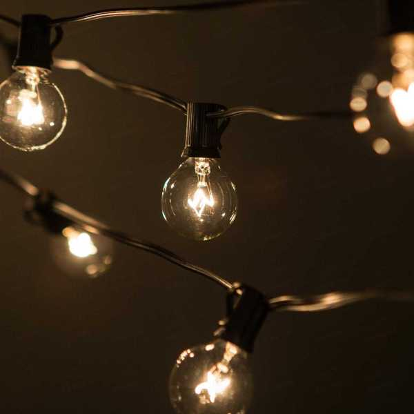 Outdoor Bulb String Patio Lights