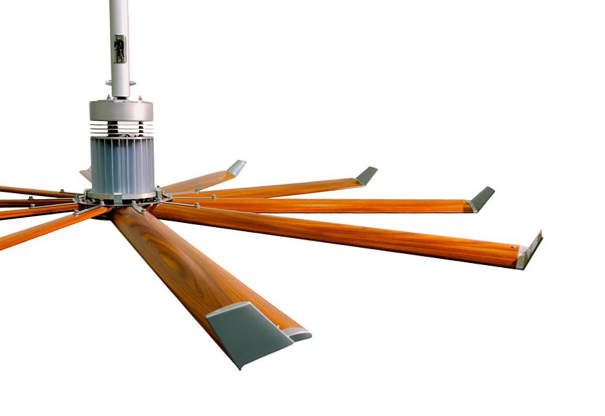 Big industrial ceiling fans