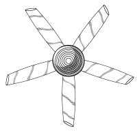 Ceiling fan drawing - design your own ceiling fan ...