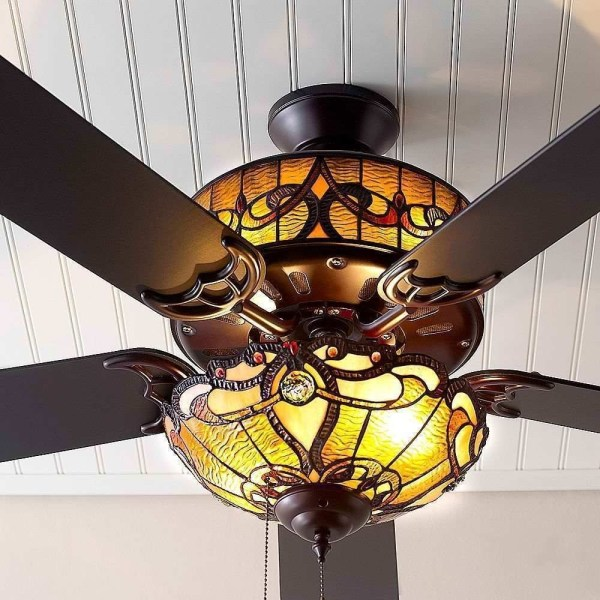 Stained Glass Ceiling Fan
