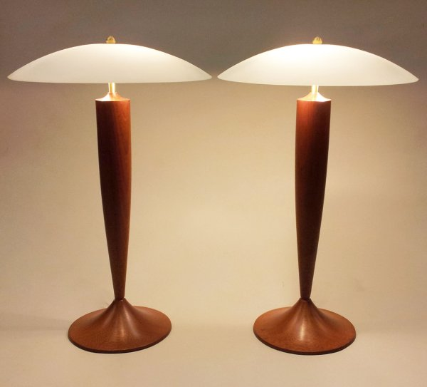 Contemporary Wood Table Lamp