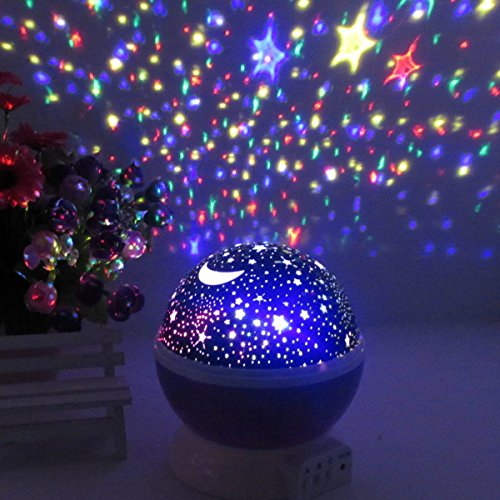 Baby night light ceiling projector