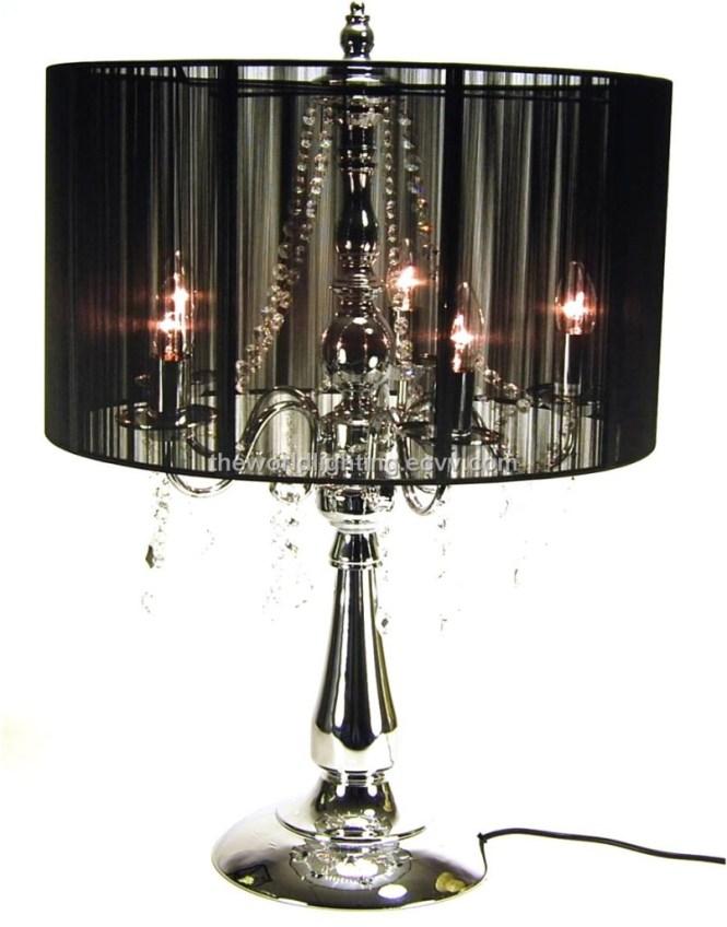 Black Chandelier Table Lamp Photo 1