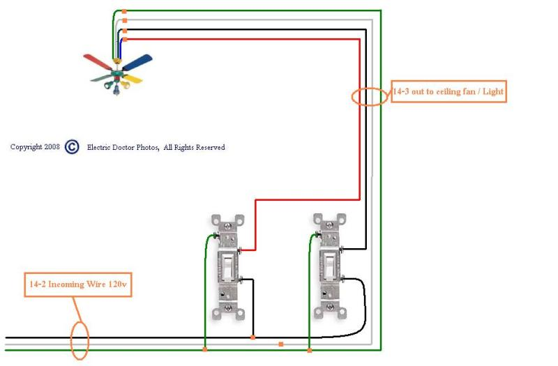 Panasonic Ceiling Fan Wiring Diagram : Wiring a ceiling fan with red wire integralbook