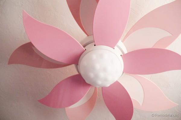 Ceiling fan for girls room