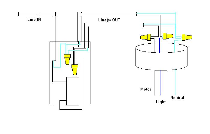 Wiring Diagram For Overhead Light With Wall Switch : 50