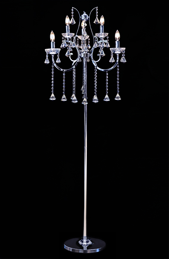 Crystal Chandelier Floor Lamp Photo 1