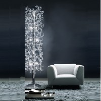 Crystal floor lamps