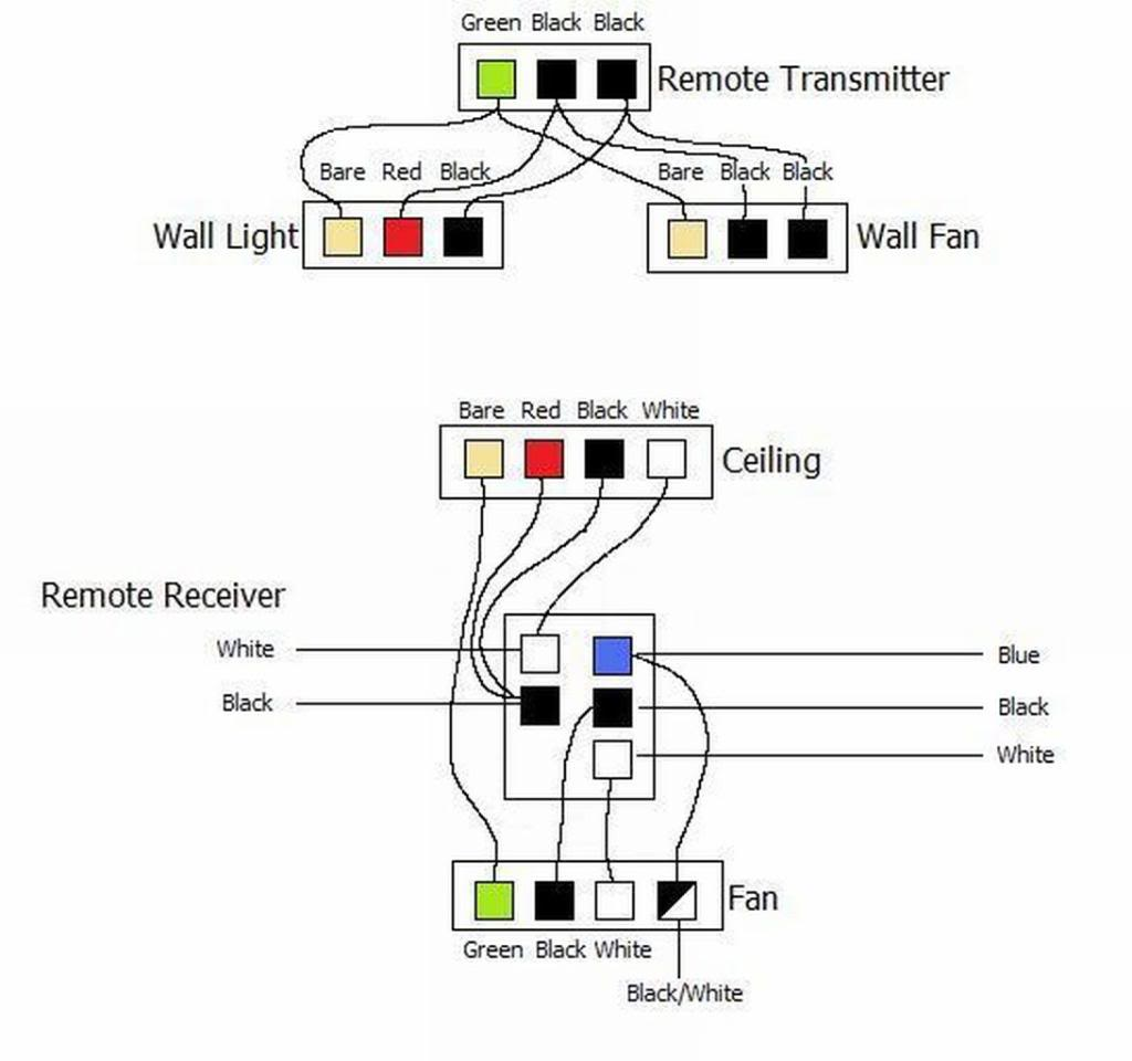 ceiling fan wiring diagrams relay switch diagram a with red wire hunter