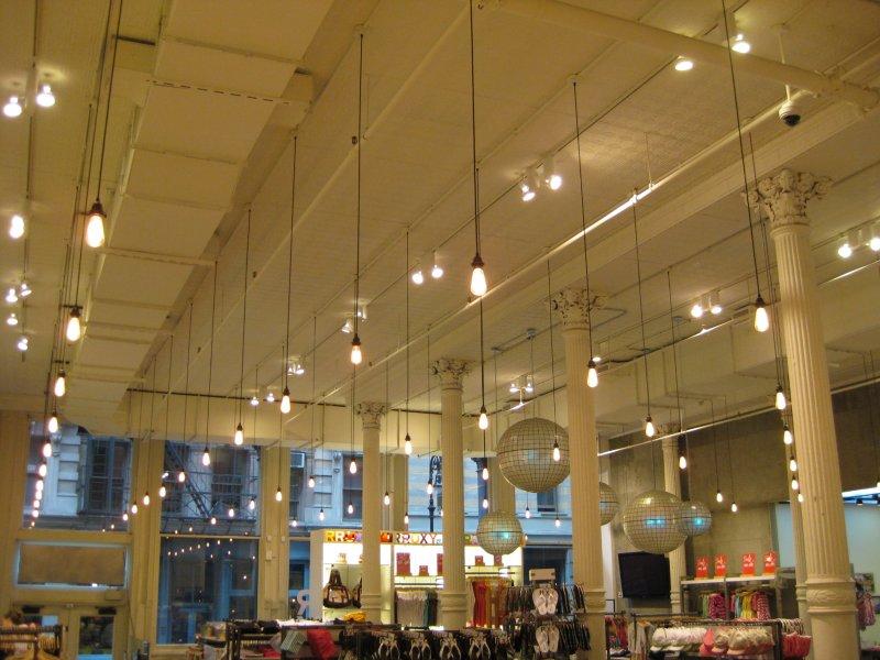 High ceiling lights