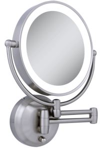 lighted makeup mirror wall mount  Roselawnlutheran