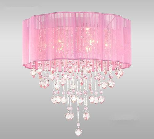 Pink Chandelier Lamp Photo 9