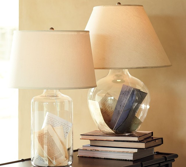pottery barn glass lamps