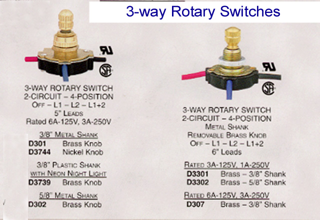 rotary lamp switch 5 3 position light switch wiring diagram efcaviation com 3 way rotary switch wiring diagram at nearapp.co
