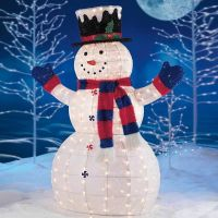 Snowman outdoor lights - 12 ways to make your Christmas ...